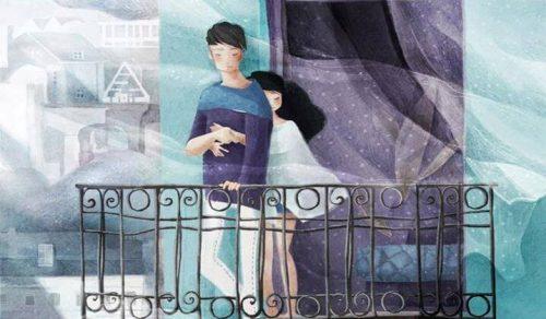 Dwoje ludzi na balkonie