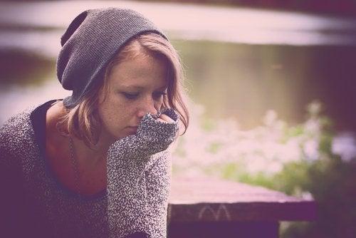 Dziewczyna z depresją smutek