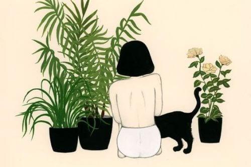 Kobieta i kot a toksyczne relacje