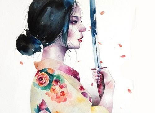 Kobieta z mieczem a sprzeczka