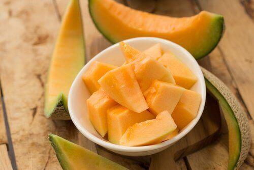 Pokrojony na kawałki melon