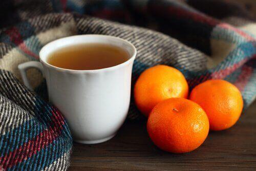 Napar z mandarynki na stres