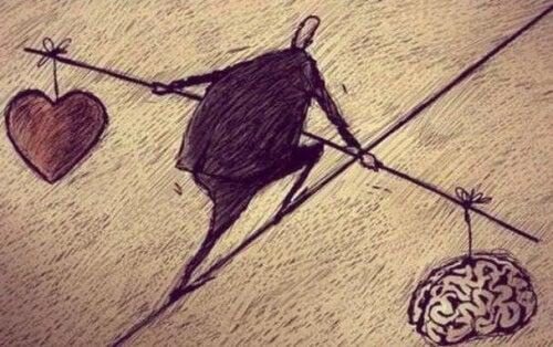 Spacer po linie - balans między sercem a umysłem a sprzeczka