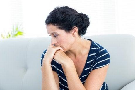 Kobieta odczuwająca stany lękowe