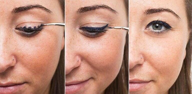 Poprawianie makijażu a elyeliner