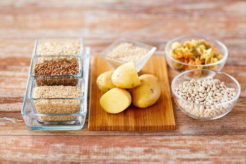 Węglowodany ciasteczka, ziemniaki, ryż