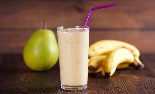 Koktajl z gruszki i banana