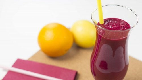 Burak i cytryna i zdrowa wątroba