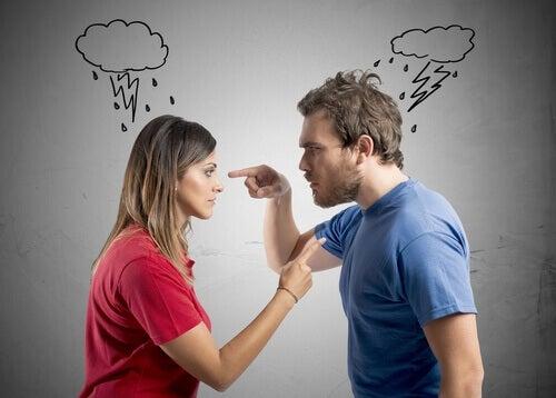 kłótnia pary a nieszczęśliwy związek