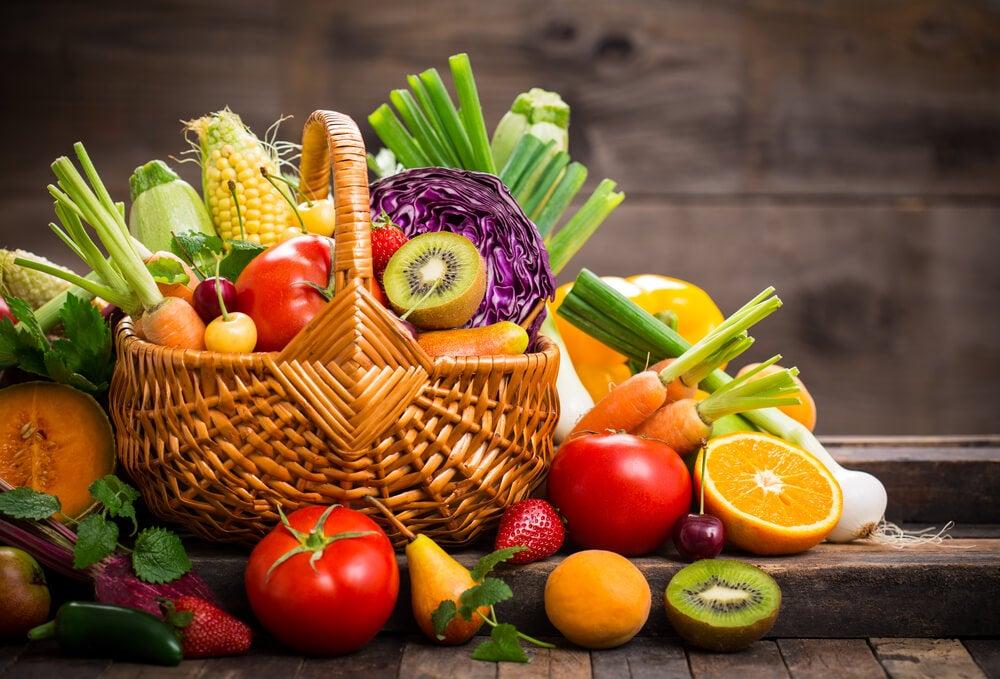 Kosz warzyw i owoców bez glutenu