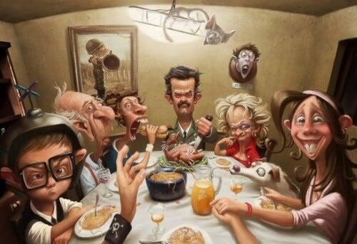 Rodzina przy wspólnym obiedzie. Toksyczna rodzina atmosfera