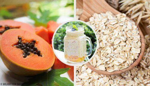 Smoothie z papai, jabłka i owsa – regulowanie trawienia