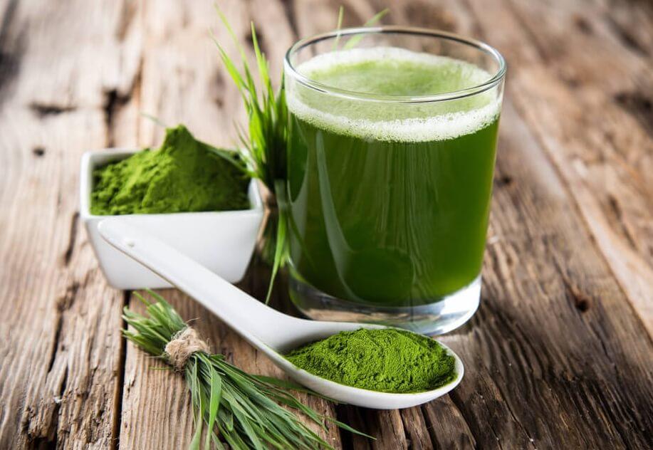 Zielony napój spirulina
