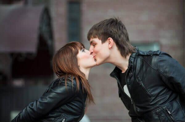 całowanie pary