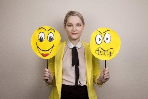 Kobieta z emotikonami