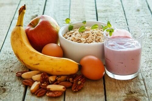 zbilansowana dieta - produkty na zdrowe śniadanie