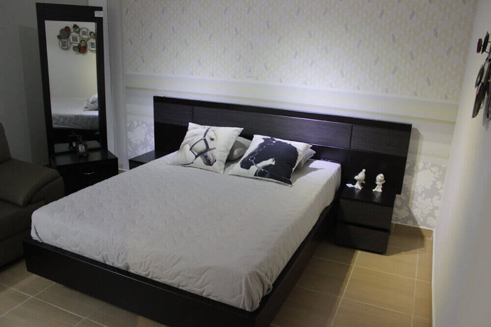 Sypialnia stonowane kolory