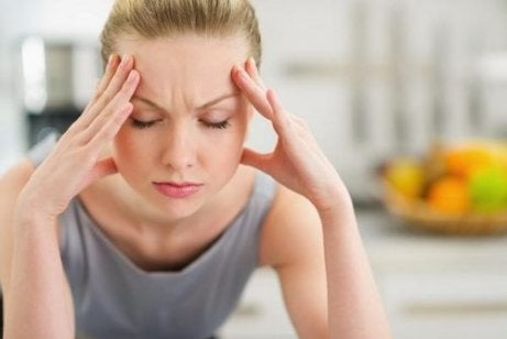 Zestresowana kobieta  a poziom leptyna