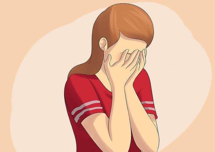 Kobieta płacze - niskie poczucie własnej wartości a Ludzie którzy się nie kochają