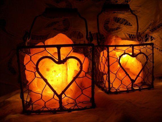 Lampiony z himalajskiej soli