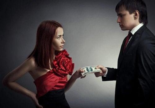 Mężczyzna nie dla ciebie bierze od Ciebie pieniądze