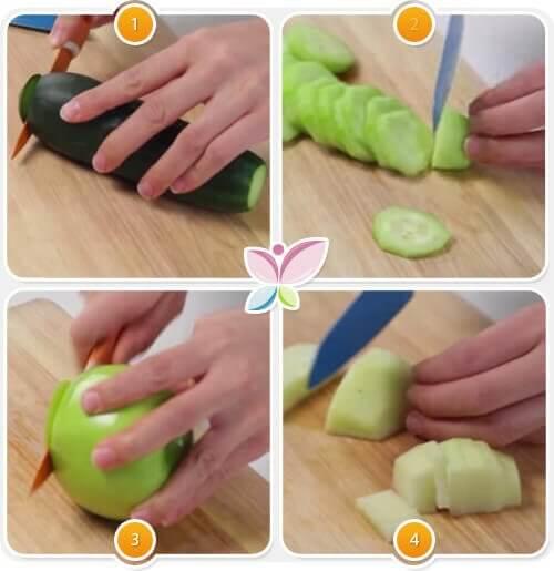 Przygotowanie zielony sok