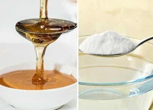 Soda oczyszczona z miodem dla zdrowia i urody