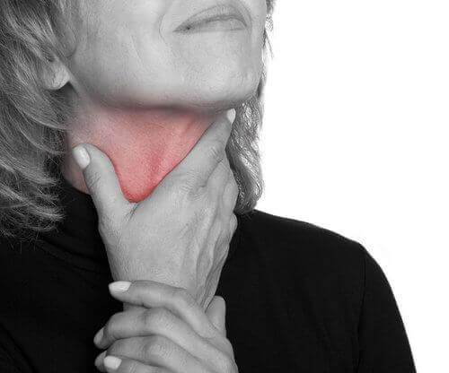 ból gardła objawy raka