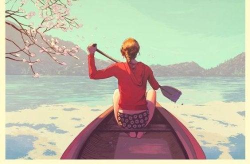 Kobieta w łodzi a Wpłynie na Ciebie