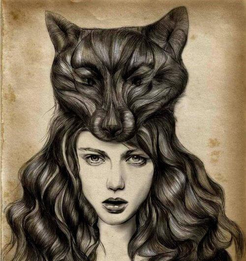 Kobieta - wilk drapieżcy