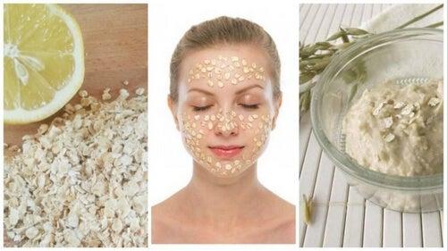 Plamy na skórze twarzy - maseczka z płatków owsianych i cytryny
