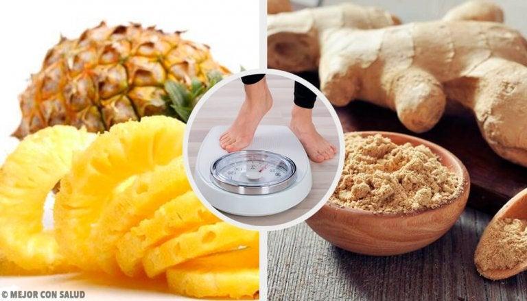 Odchudzający koktajl z ananasa i imbiru – przepis
