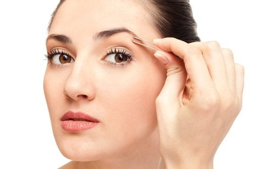 Przedmioty użytku codziennego Pęseta do depilacji brwi
