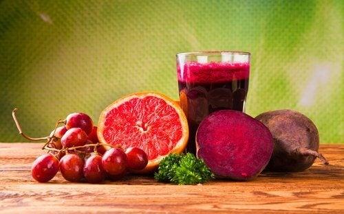 Czerwony sok na czerwone krwinki