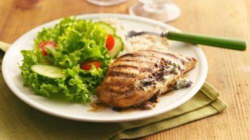 dietetyczne potrawy, pierś grillowana z kurczaka