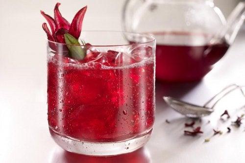 Napój z hibiskusa napoje odchudzające