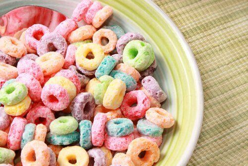 Płatki z cukrem