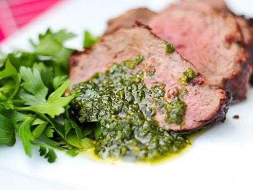 Mięso i chimichurri