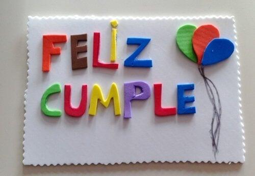 kartka urodzinowa z papieru piankowego
