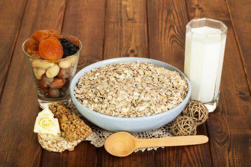 mleko i płatki owsiane dieta owsiana