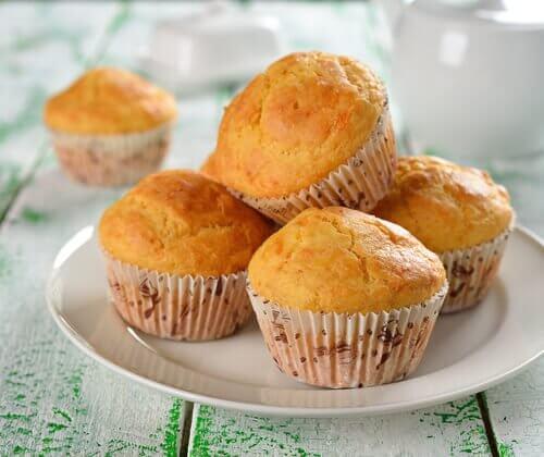 Pomarańczowe muffiny śniadanie cukrzyka
