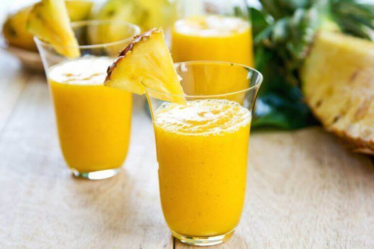 napój imbirowy z ananasem