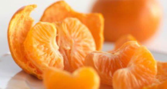 Obrane ze skórki mandarynki