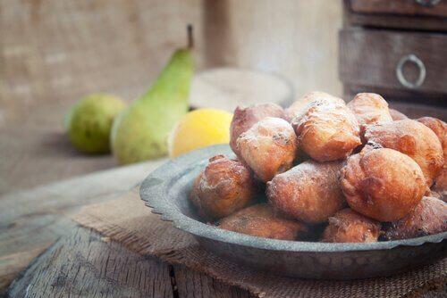 pieczone pączki jako deser bez cukru