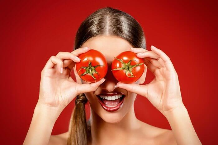 Pomidory jako oczy