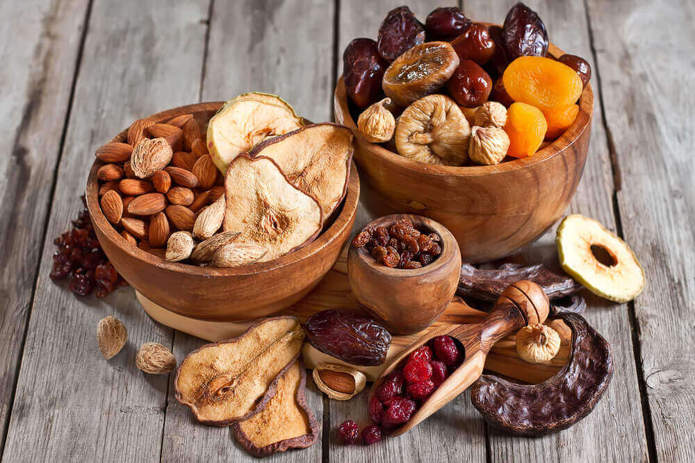 suszone owoce i nasiona dieta wegańska