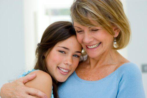 Szczęśliwa matka i córka.