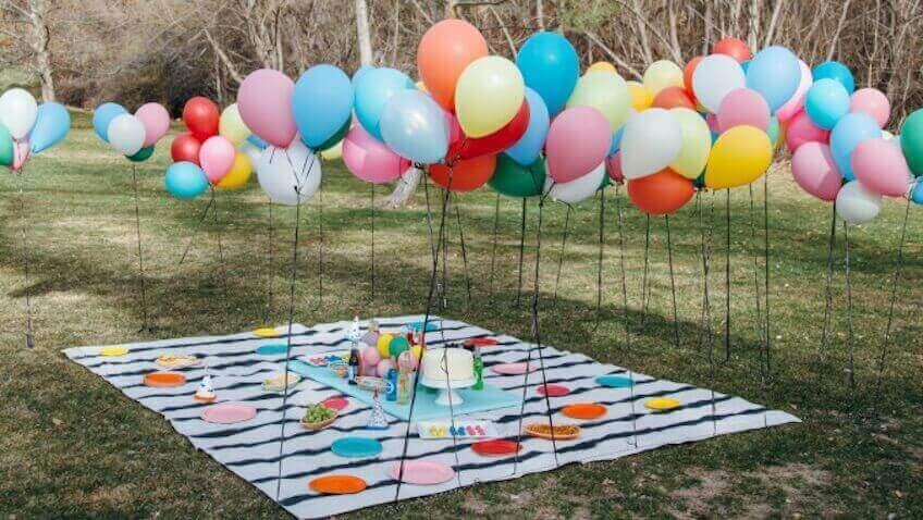 balony na zewnątrz