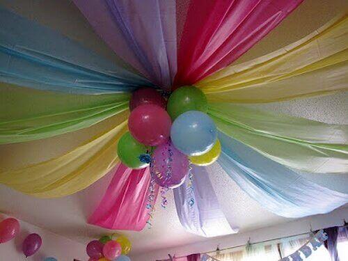 balony z materiałem