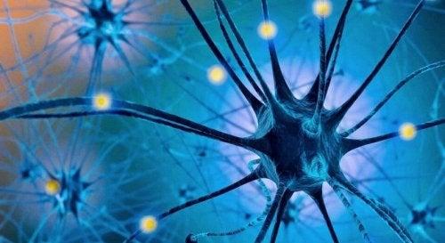 grafika cząsteczek komórek neurony